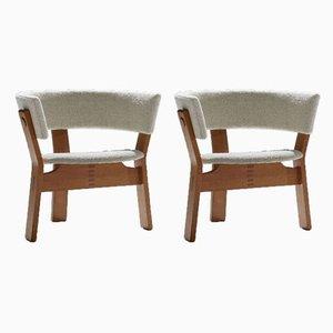 Armlehnstühle aus Eiche von Steen Ostergaard für Stol-Ex, 1962, 2er Set