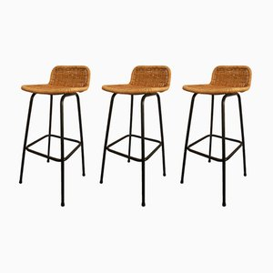 Vintage Bar Stools by Dirk van Sliedregt for Rohé Noordwolde, 1960s, Set of 3