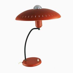 Lampe de Bureau Orange Mid-Century par Louis Christiaan Kalff pour Philips