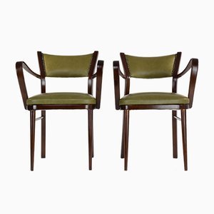Art Deco Italian Armchairs, 1940s, Set of 2