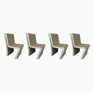 Italienische Esszimmerstühle von Officinadi Ricerca, 1970er, 4er Set