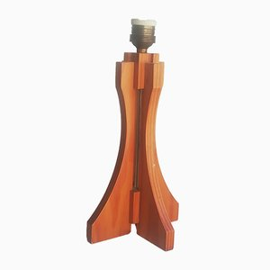 Wooden Table Lamp, 1970s