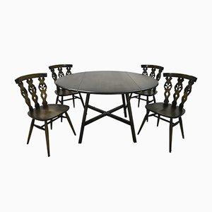 Esstisch & Stühle von Lucian Ercolani für Ercol, 1979