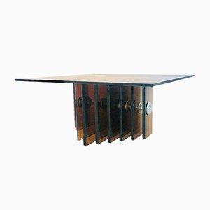 Tavolino da caffè in vetro, anni '60
