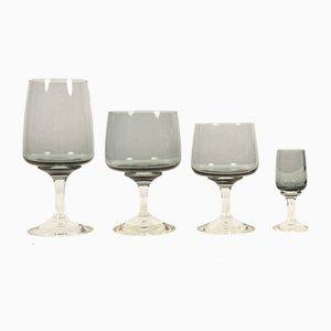 Juego de vasos Mid-Century de vidrio de Per Lütken para Holmegaard. Juego de 24