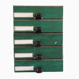 Boîtes de Rangement Empilables de Hansa Mehle, années 50, Set de 5