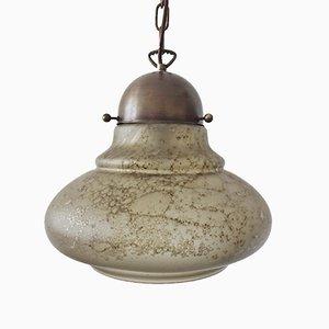 Vintage Deckenlampe aus Glas von Peill & Putzler
