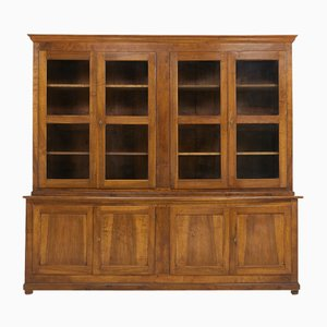 Antikes französisches Bücherregal aus Nussholz
