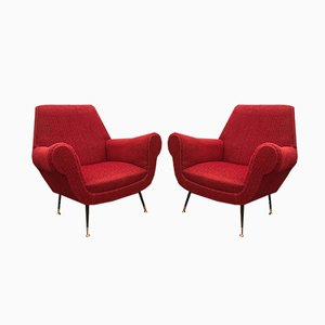 Italienische Sessel von Gigi Radice, 1950er, 2er Set