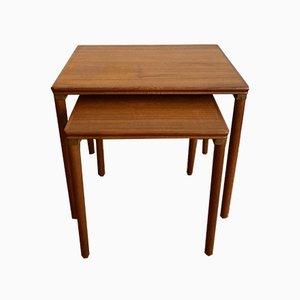 Tables d'Appoint en Teck, années 70, Set de 2