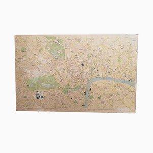 Mappa vintage di Londra di Geographers Map Co, anni '70