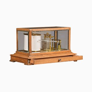 Antique Oak Barograph