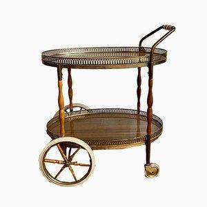 Wooden Bar Cart, 1960s