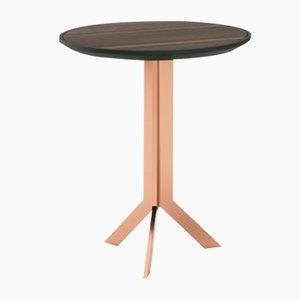 Round Lacquered and Metal Side Table by Pradi for Pradi Handicraft