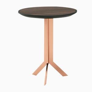 Tavolino rotondo laccato in metallo di Pradi per Pradi Handicraft
