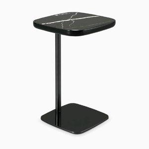 Tavolino in marmo Nero Marquinia e metallo laccato di Pradi per Pradi Handicraft