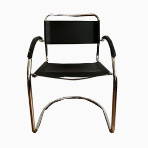 Chrome and Leather Armchair, 1960s