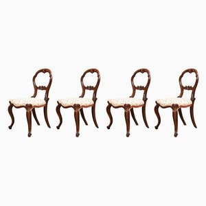 Antique Rosewood Side Chairs, Set of 4