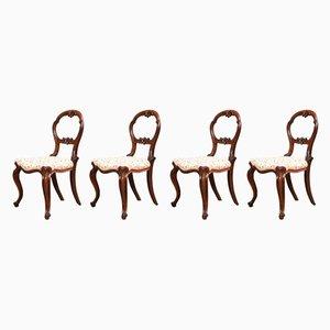 Chaises d'Appoint Anciennes en Palissandre, Set de 4