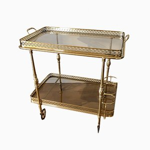 Brass and Glass Bar Trolley, 1960s