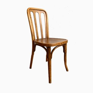 Antique Wooden Side Chair by Josef Hoffmann for Thonet