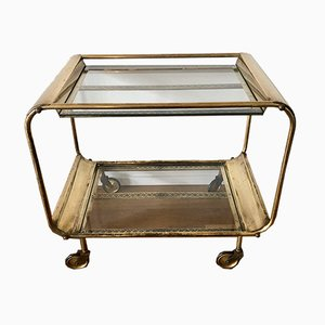 Art Deco Brass and Glass Trolley, 1930s