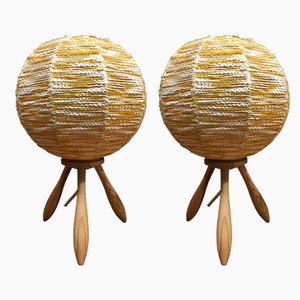 Lámparas de mesa escandinavas, años 50. Juego de 2
