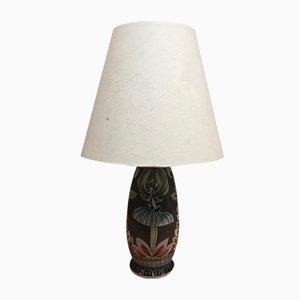 Lámpara de mesa escandinava de cerámica, años 60