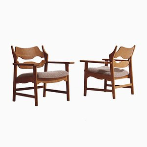 Model Razorblade Lounge Chairs by Henning Kjærnulf for Nyrup Moebelfabrik, 1960s, Set of 2