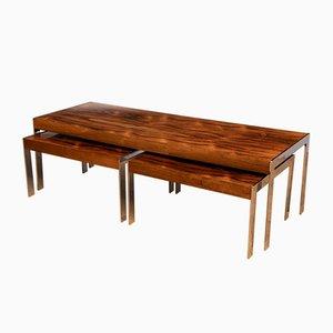 Tavolini da caffè in palissandro di Richard Young per Merrow Associates, anni '70, set di 3