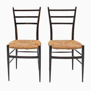 Chaises de Salle à Manger Mid-Century Laquées, Set de 2
