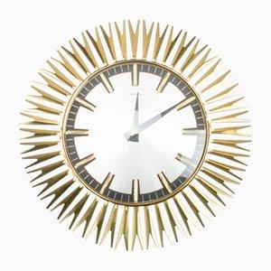Horloge Murale en Laiton par Electric, années 60