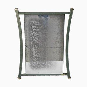 Französischer Vintage Spiegel mit Rahmen aus Messing & Metall von Pierre Vandel