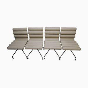 Weiße Canouan Esszimmerstühle aus Leder von Giovanna Modonutti für Frag, 1990er, 4er Set