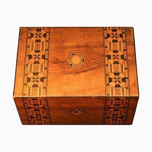 Viktorianische Tunbridge-Ware Box, 19. Jh.