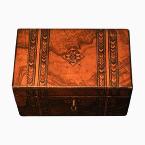 19th Century Victorian Tunbridge Ware Tea Caddy