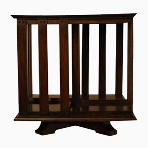 Antique Victorian Mahogany Revolving Shelf