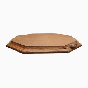 Oak Octagonal Bread Board by Robert Mouseman, 1950s