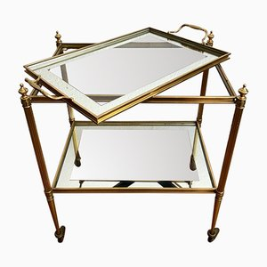 French Brass Bar Trolley, 1960s