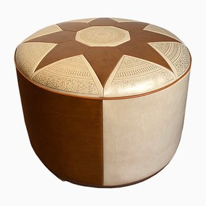 Faux Leather Pouf, 1960s