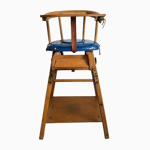 Sedia da bambino in legno, anni '50