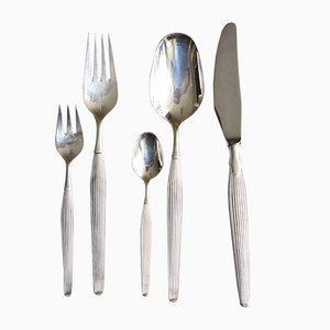 Cutlery Set by Henning Seidelin for Frigast, 1960s, Set of 30