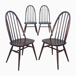 Elm Dining Chairs from Ercol , 1970s, Set of 4