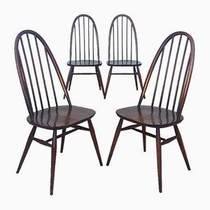 Esszimmerstühle aus Ulmenholz von Ercol, 1970er, 4er Set