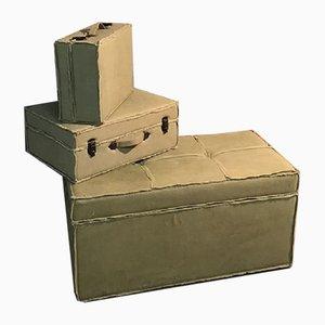 Juego de maletas y baúl de OfficinadiRicerca, años 80