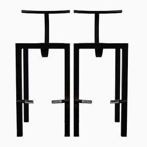 Model Sarapis Bar Stools by Philippe Starck, 1986, Set of 2