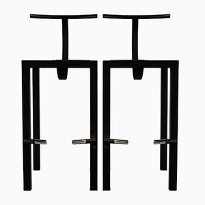 Sgabelli da bar Sarapis di Philippe Starck, 1986, set di 2