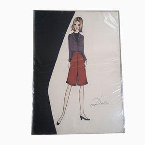 Skizzen von Dada für Rosier, 1960er, 5er Set