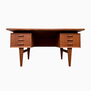 Teak Twin Pedestal Desk, 1960s