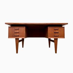 Teak Twin Pedestal Desk, 1960s